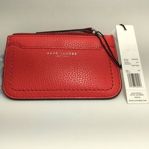 MARC JACOBS KEYCHAIN POPPY RED WALLET NWT 105.00